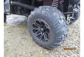 RTV850 ATV TIRES W ALLOY WHEELS CAN UPGRADE TO HD WORKSITE TIRES